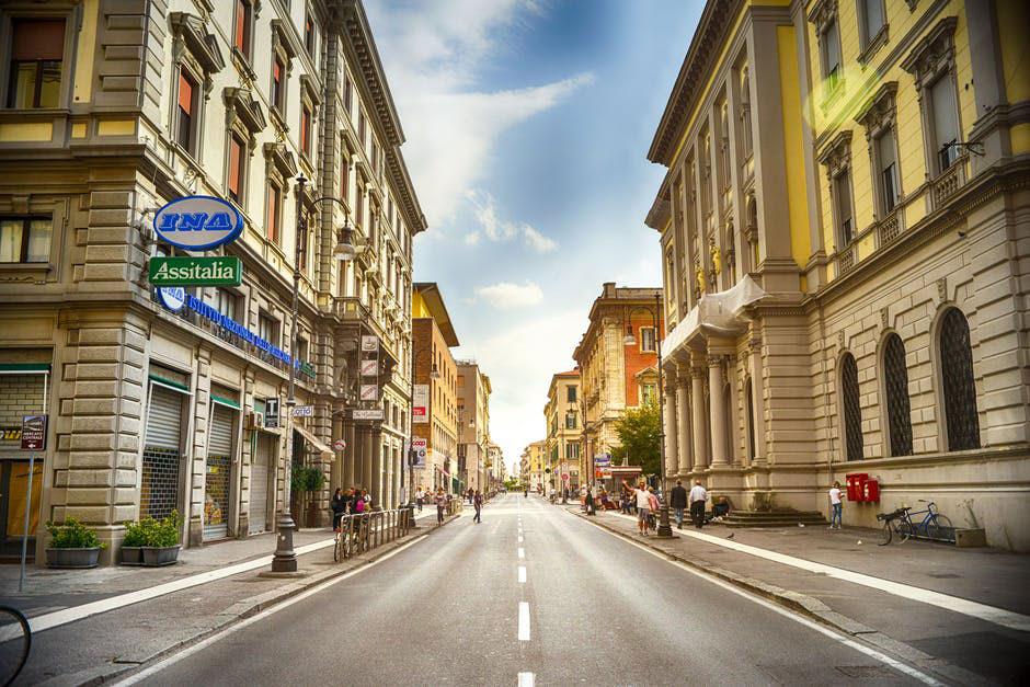 City Road Street Italy
