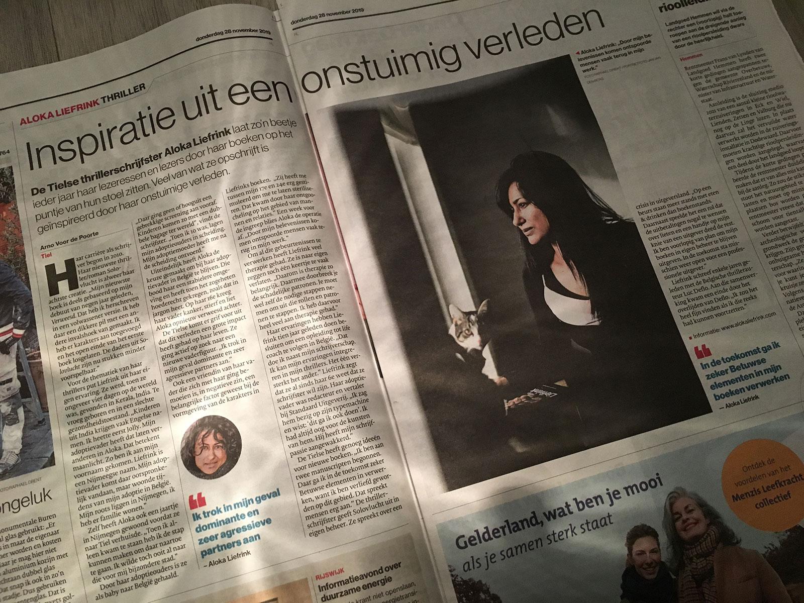 gelderlander artikel Aloka Liefrink 28 nov 2019